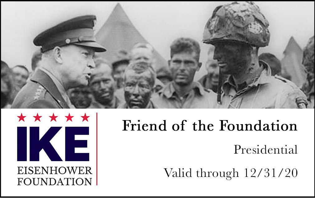 A picture of an example friend ID card for the Eisenhower Foundation.