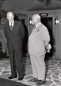 September 25, 1959 - Dwight D. Eisenhower and Nikita Khrushchev meet at Camp David.