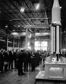 September 8, 1960 - Dwight D. Eisenhower  tours the George C. Marshall Space Flight Center in Huntsville, Alabama.