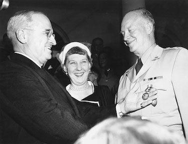 President Truman, General Eisenhower, and Mamie.