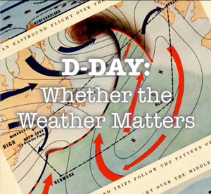 weather map for D Day
