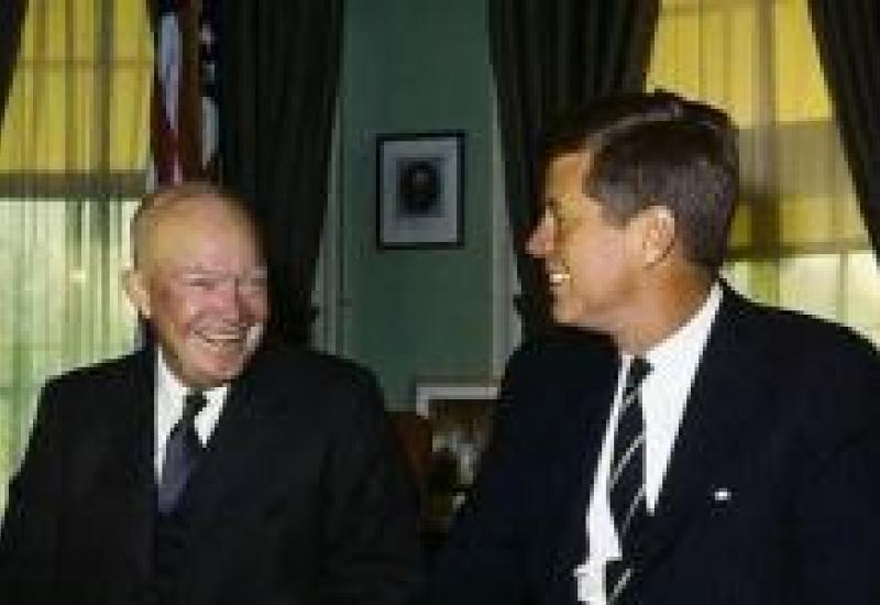 Eisenhower with Kennedy